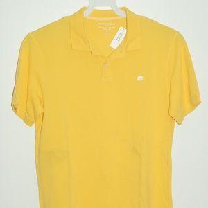 Banana Republic Mens Yellow Short Sleeve Polo